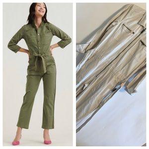 NWT Lucky Brand Khaki Surplus Jumpsuit Size XS